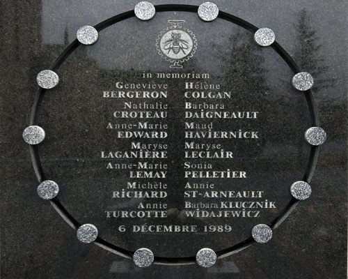 Вшанування пам'яті студенток, розстріляних у Монреалі