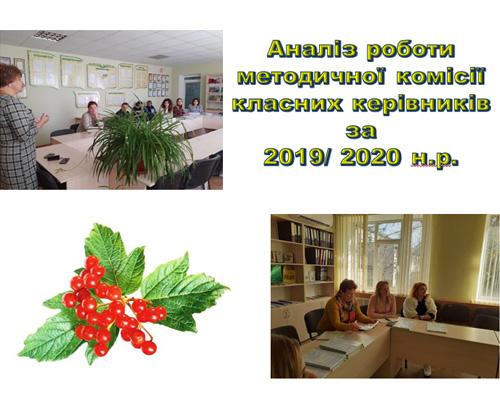 Аналіз роботи методичної комісії класних керівників за 2019/ 2020 н.р